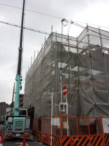 建設中の建屋